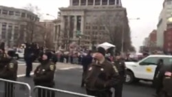 Trump procession