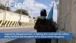 VOA60 Africa - Somali government forces clash with opposition supporters
