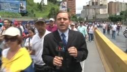 Oposición venezolana marcha hasta el Consejo Electoral