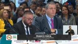 Miembros de la sociedad civil intervienen ante la OEA