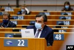 19일 벨기에 브뤼셀에서 유럽의회 회의가 열리고 있다. (자료사진)