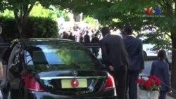 ترک صدر نے بھی سفارت خانے کے باہر احتجاج دیکھا