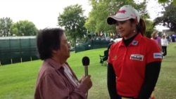 สัมภาษณ์โปรแหวนที่กำลังแข่งกอล์ฟรายการเมเจอร์ Wegmans LPGA Championship ที่นิวยอร์ค