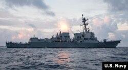 이지스 구축함 '랠프 존슨' 함. 사진 출처: U.S. Navy