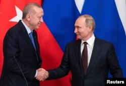 Cumhurbaşkanı Recep Tayyip Erdoğan ve Rusya Lideri Vladimir Putin