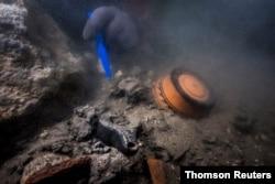کشتی نظامی باستانیغرق شده