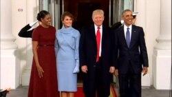 براک ئۆباما لە کۆشـکی سـپی پـێشوازی لە دۆناڵد ترەمپ دەکات