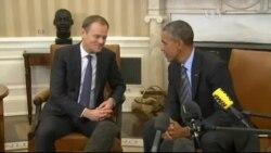 Туск приїхав до США говорити про санкції, підтримку України. Відео