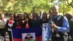 Manifestasyon devan Lamezon Blanch pou Mande yon TPS 18 Mwa pou Ayisyen yo