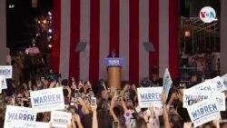 Etazini-Eleksyon: Senatè Elizabeth Warren Monte nan 2èm Plas Pami Kandida Demokrat yo