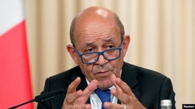 Le ministre Jean-Yves Le Drian à Moscou, le 9 septembre 2019.