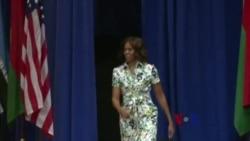 第一夫人奥巴马鼓励非洲年轻人重视妇女权益