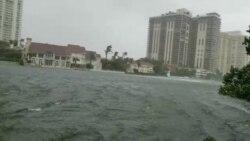 Video mưa bão tràn vào Miami, Florida