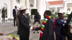 Zimbabwe President In Uganda for 57th Independence Anniversary