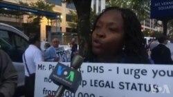 Entèvyou ak manifestan pou TPS yo nan Washington DC