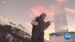 Concours international de sculpture sur glace à Valloire