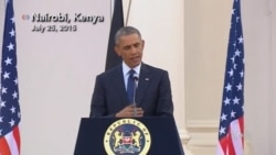 Obama: US, Kenya United Against Terrorism, Al-Shabab