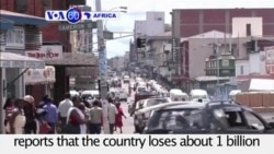 VOA60 Africa - Report: Zimbabwe loses about 1 billion US dollars annually due to corruption