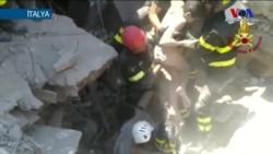 İtalya'da Enkazdan Mucizevi Kurtuluş