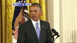 VOA60 America- President Obama answered questions after negotiators reached historic deal on Iran- July 15, 2015