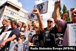 Protesti podrške grupama Pravda za Dženana i Pravda za Davida, Sarajevo, 11. septembar 2021.