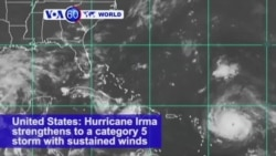 VOA60 World - Hurricane Irma strengthens to a Category 5 storm