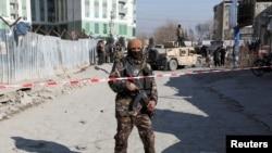 阿富汗首都喀布爾遭到汽車炸彈攻擊。(2020年12月15日)