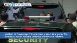 VOA60 World - Myanmar leader Aung San Suu Kyi will seek a second term in an election in November