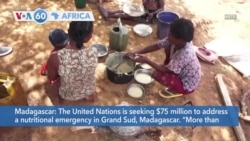 VOA60 Afrikaa - UN seeks $75 million to address nutritional emergency in Madagascar