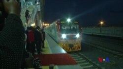 中國幫肯尼亞修建的鐵路開通運行 (粵語)