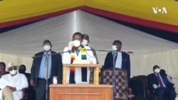 UMnangagwa Ukhuluma Ngemigwaqo Elungiswa eZimbabwe Legciwane leCOVID-19