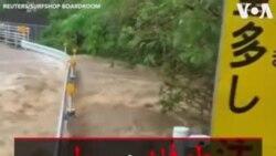 طوفان و سیل دست کم ۱۰ نفر را در ژاپن کشت