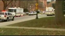 حضور نیروهای پلیس در دانشگاه ایالتی اوهایو پس از حمله به دانشگاه