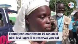 Fanmi Manifestan ki Tonbe Anba Bal