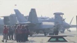 里根号航母加入美韩联合军演