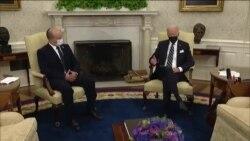 Repòtaj Lyonel Desmarattes sou rankont Prezidan Joe Biden ak Premye Minis Izrayèl la, Naftali Bennett, nan La Mezon Blanch, 27 out 2021.