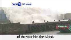 VOA60 World - Strongest typhoon of the year hits Taiwan