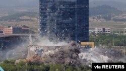 북한이 지난해 6월 개성 남북 공동연락사무소를 일방적으로 폭파했다.