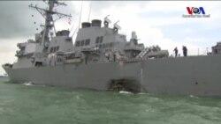 ABD Savaş Gemisi Tankerle Çarpıştı: 10 Denizci Kayıp