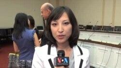 赵美心议员在国会山召开记者招待会