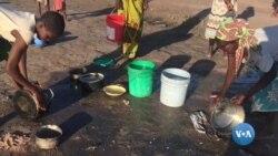Neste campo de reassentamento da Zambézia as pessoas aprendem a proteger-se da cólera
