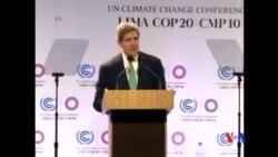 2014-12-13 美國之音視頻新聞: 聯合國氣候問題談判延期舉行