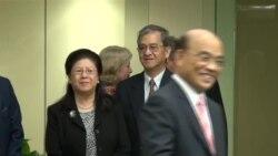 苏贞昌主持民进党驻美代表处成立仪式