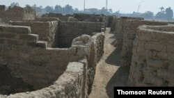A new archaeological discovery is seen in Luxor
