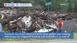 VOA60 America- One woman dead, three others missing in Colorado mudslides