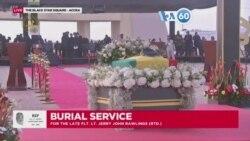 Manchetes africanas 27 Janeiro: Centenas de ganeses assistiram ao funeral de estado do ex PR Jerry John Rawlings