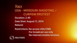 7063EV USA MISSOURI SHOOTING CURFEW PROTEST