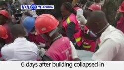 VOA60 Africa- More Survivors Found 6 Days After Kenya Building Collapse