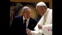 2015-05-10 美國之音視頻新聞:卡斯特羅在梵蒂岡拜會教宗方濟各