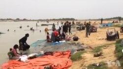 Les Blanchisseurs et autres débrouillards prennent d'assaut tous les jours le bord du fleuve Chari (vidéo)